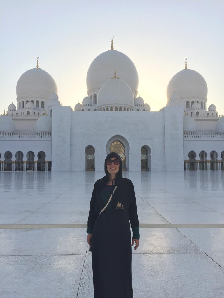 Francesca - Presso la Moschea di Abu Dhabi