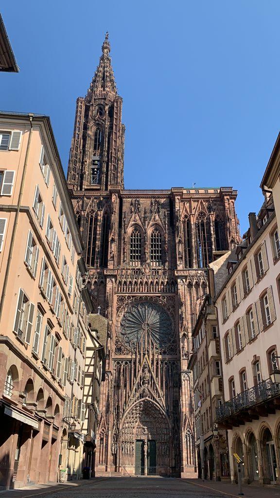 La Cattedrale di Strasburgo durante il lockdown