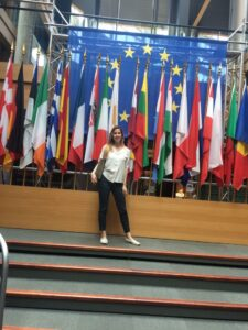 Sara presso il Parlamento Europeo di Strasburgo